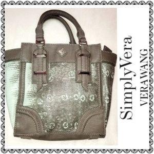 {Simply Vera Vera Wang} faux snake satchel NWOT